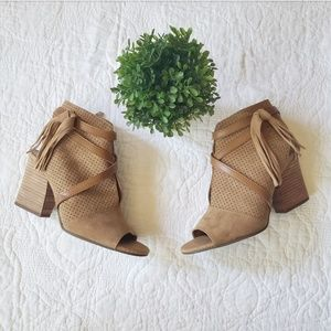 Franco Sarto | Tan Suede Booties size 8
